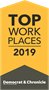 2019 Top Work Places Award logo